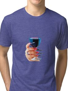 Glass of red wine Tri-blend T-Shirt
