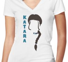 Katara Watertribe Women's Fitted V-Neck T-Shirt