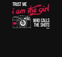 Who Calls The Shots Womens Fitted T-Shirt