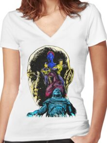At War With A God: Apocalypse Women's Fitted V-Neck T-Shirt