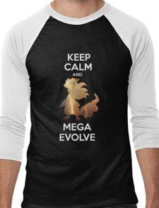 Keep Calm and MegaEvolve! AMPHAROS! Men's Baseball ¾ T-Shirt