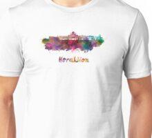 Heraklion skyline in watercolor Unisex T-Shirt
