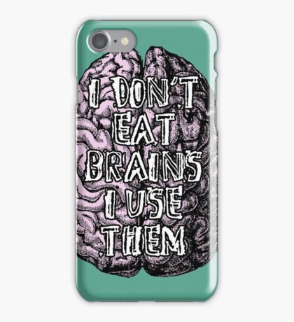Zombie quote iPhone Case/Skin