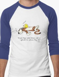 Calvin And Hobbes Quote Men's Baseball ¾ T-Shirt