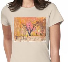 Winter fires Womens Fitted T-Shirt