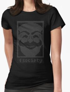mr._robot_-_f.society.dat Womens Fitted T-Shirt