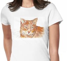 Ginger Tabby Womens Fitted T-Shirt