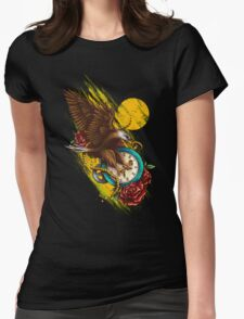 Time Flies Womens Fitted T-Shirt