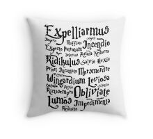 magic spells harry potter Throw Pillow