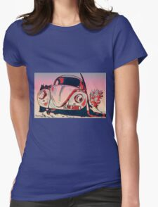 Retro bug Womens Fitted T-Shirt