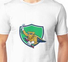 Refrigeration Mechanic Leopard Superhero Crest Cartoon Unisex T-Shirt