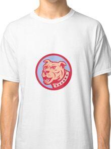 Mastiff Dog Mongrel Head Side Circle Cartoon Classic T-Shirt