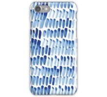 Shibori  blue indigo brush strokes iPhone Case/Skin
