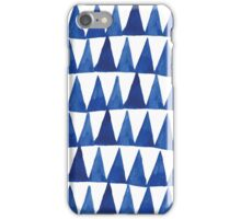 Shibori  blue indigo brush strokes hand painted iPhone Case/Skin