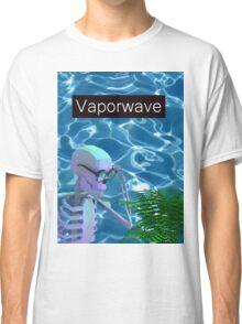 Vaporwave Skeleton - Trippy Plant Classic T-Shirt