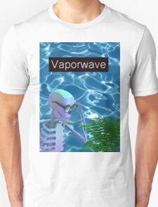 Vaporwave Skeleton - Trippy Plant T-Shirt