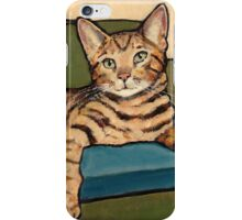 Bengal Cat, Original Painting iPhone Case/Skin
