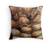 Palm Tree Bark, Cyprus Throw Pillow