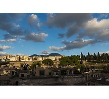 Herculaneum - Dramatic Sky and Shadows Evoke the Ancient Volcano Eruption Disaster Photographic Print