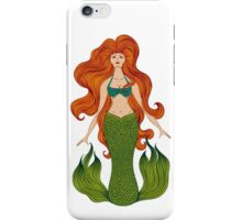 Mermaid with beautiful red hair.  iPhone Case/Skin