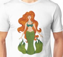 Mermaid with beautiful red hair.  Unisex T-Shirt
