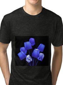 Blue Lampshades - Glow Festival 2012 Eindhoven Tri-blend T-Shirt