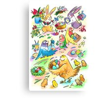 Easter egg party Canvas Print