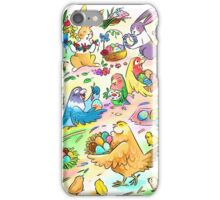 Easter egg party iPhone Case/Skin