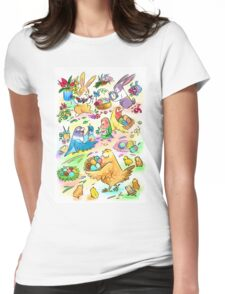 Easter egg party Womens Fitted T-Shirt