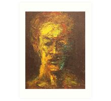 Impasto Self Portrait Art Print