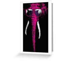 crazy elephant Greeting Card