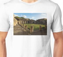 Herculaneum Ruins - Quiet Long Shadows Courtyard Unisex T-Shirt