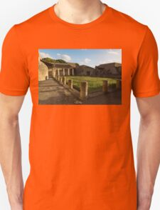 Herculaneum Ruins - Quiet Long Shadows Courtyard T-Shirt