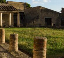 Herculaneum Ruins - Quiet Long Shadows Courtyard Sticker