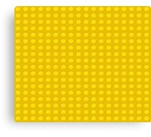 Lego (yellow) Canvas Print