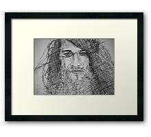 Ink Portrait Framed Print