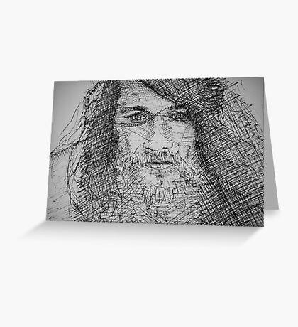 Ink Portrait Greeting Card
