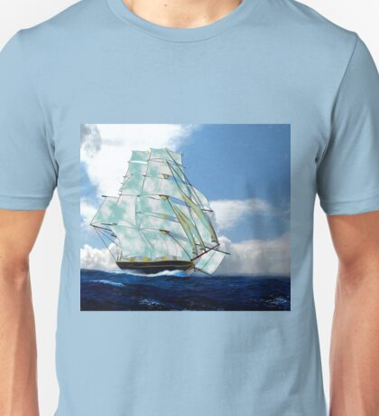 A Cloud of Sails on a Vintage Ship Unisex T-Shirt