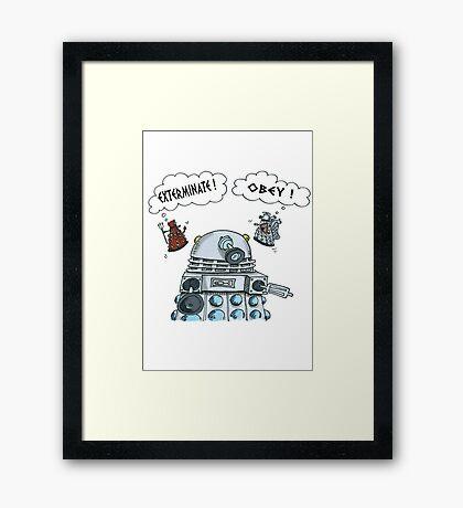 The Inner Workings of the Dalek Mind Framed Print