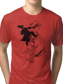 Abraham vs T-rex Tri-blend T-Shirt