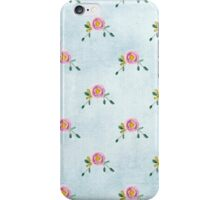 LOVELY roses on blue - pattern iPhone Case/Skin