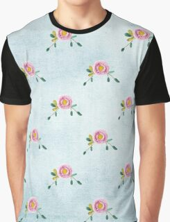 LOVELY roses on blue - pattern Graphic T-Shirt