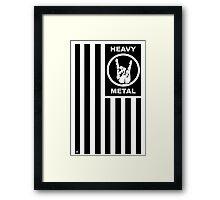 Flag of Heavy Metal Framed Print