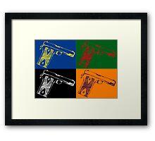 Pop art guns Framed Print