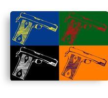Pop art guns Canvas Print