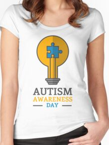 Autism awareness day Women's Fitted Scoop T-Shirt