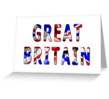 Great Britain Word With Flag Texture Greeting Card