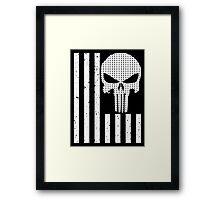 american sniper flag Framed Print