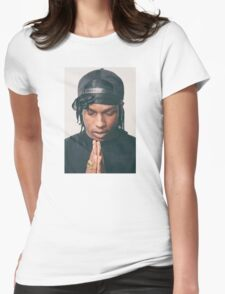 asap rocky praying Womens Fitted T-Shirt