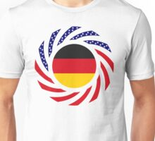 German American Multinational Patriot Flag Series Unisex T-Shirt